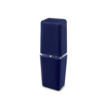 Porta Escova de Dente Plástico Retangular Pétala Azul Marinho Martiplast