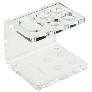 Porta Escovas de Dente Acrílico Pia Quadrado sem Tampa Clássica Cristal