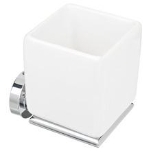 Porta Escovas de Dente Louça Parede Quadrado sem Tampa Slim Branco
