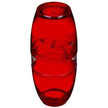 Porta Escovas de Dente Plástico Pia Oval com Tampa Vitra Vermelho