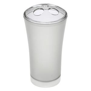 Porta Escovas de Dente Plástico Cilíndrico sem Tampa Fog Cinza