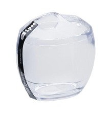 Porta Escovas de Dente Plástico Oval sem Tampa Spoom Cristal