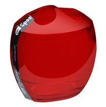 Porta Escovas de Dente Plástico Oval sem Tampa Spoom Vermelho