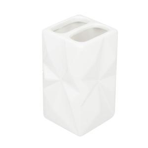 Porta Escovas de DentePia Quadrado sem Tampa Diamond Branco