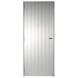 Porta Giro Alumínio 215 cmx95 cmx6,6 cm Anodizado Fosco Perfecta Max 1 folha Sem vidro Jap Janelas
