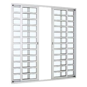 Porta giro Aluminio Alumifort 216 x 200 x 8,7 cm lado  Divisória horizontal 4 folhas Sasazaki