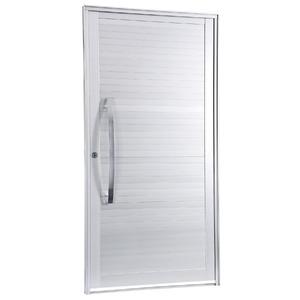 Porta Giro Alumínio Branca 215 cmx108 cm 1 folha Gravia