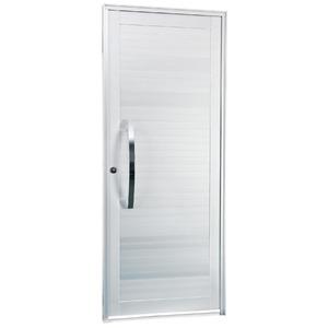 Porta Giro Alumínio Branca 215 cmx88 cm 1 folha Gravia