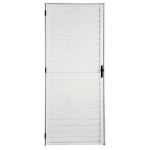 Porta Giro Alumínio Branco 210 cmx66 cm 1 folha Atlântica