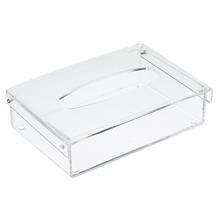 Porta Lenço Acrílico Cristal 5,5X20X13 cm