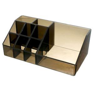 Porta Maquiagem Fumê 22,5x9,9x7cm
