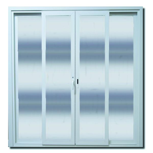 Porta montada balc o de pl stico pvc 2 15x2m shine leroy - Porta pvc leroy merlin ...