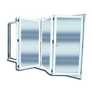 Porta Montada com Proteção Térmica Sanfonado Lisa PVC Esquerdo 2,15x2,00m Selbach
