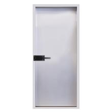 Porta Corta Fogo de Giro de Aço Galvanizado Direito 2,10x0,89m Metalika