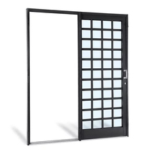 Porta Montada de Correr Lisa Metal Aço Direito 2,17x1,8m Sasazaki
