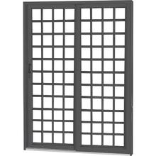 Porta Montada de Correr Lisa de Aço Esquerdo 2,15x1,60m CRV