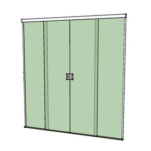 Porta Montada de Correr Lisa de Vidro Verde 8mm Ambos os Lados BR Baldex