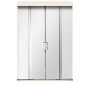 Porta Montada de Correr Lisa de Vidro Vidro Comum 2,10x1,60m Settis