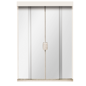 Porta Montada de Correr Lisa de Vidro Vidro Comum 2,10x2,50m Settis