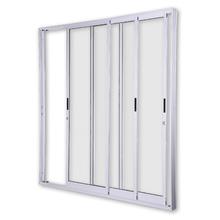 Porta Montada de Correr Vidro de Alumínio Ambos os Lados Branco 1,20x2,15m 3A Alumínio