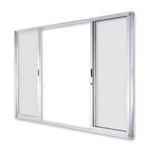 Porta Montada de Correr Vidro de Alumínio Central Branco 1,50x2,15m 3A Alumínio