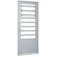 Porta Montada de Giro Basculante Metal Alumínio Esquerdo 2,16x0,88m Alumifort Sasazaki