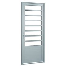 Porta Montada de Giro Decorada Metal Alumínio Direito 2,16x0,88m Sasazaki