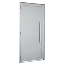Porta Montada de Giro Decorada Metal Alumínio Direito 2,16x0,88m Alumifort Sasazaki