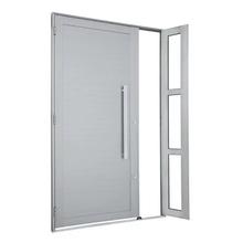 Porta Montada de Giro Decorada Metal Alumínio Esquerdo 2,16x1,2m Alumifort Sasazaki