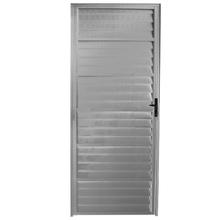 Porta Montada de Giro Veneziana Sem Ventilação Metal Alumínio Direito 2,1x0,66m Fortline Atlântica