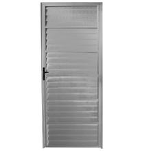 Porta Montada de Giro Veneziana Sem Ventilação Metal Alumínio Direito 2,1x0,76m Fortline Atlântica