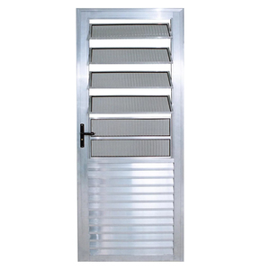 Porta Montada de Giro Basculante Metal Alumínio Direito 2,1x0,8m Habitec