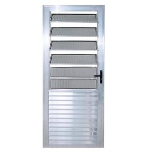 Porta Montada de Giro Basculante Metal Alumínio Esquerdo 2,1x0,8m Habitec