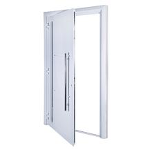 Porta Montada de Giro Lisa de Alumínio 2,15x0,98m 3A Alumínio