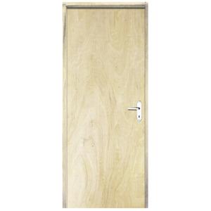 Porta Montada De Giro de Madeira Pinus Lisa 2,10x0,72m Direito  Esquadrias Sidney