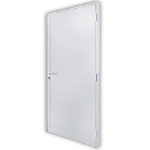 Porta Montada de Giro Lambri de Alumínio Direito Branco 0,78x2,15m 3A Alumínio