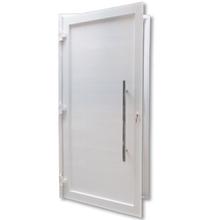 Porta Montada de Giro Lambri de Alumínio Direito Branco 1,30x2,35m 3A Alumínio