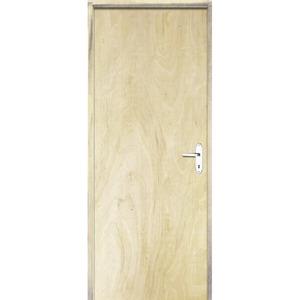 Porta Montada de Giro Lisa Madeira Pinus Direito 2,1x0,60m Esquadrias Sidney