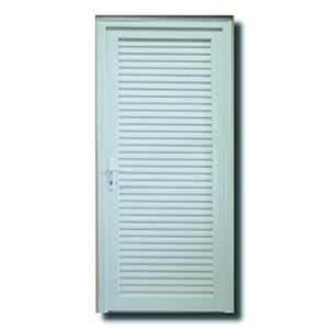 Porta Montada de Giro Veneziana Plástico PVC Direito 2,1x0,9m Shine