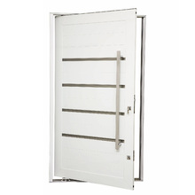 Porta Montada Pivotante Decorada Metal Alumínio Direito 2,25x1,3m Gravia