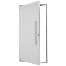 Porta Montada Pivotante Lambri de Alumínio Esquerdo Branco 2,16x1,10m Sasazaki