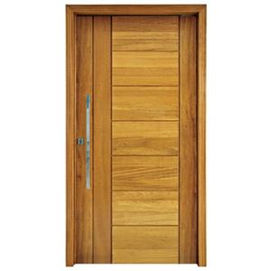 Porta Montada Pivotante Decorada de Madeira Angelim 2,14x1,17m Cruzeiro