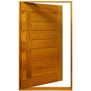 Porta Montada Pivotante de Madeira Angelim Ambos os Lados 2,10x1,20m 596 Galon