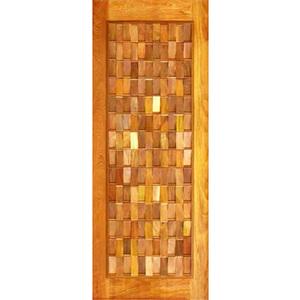 Porta Montada Pivotante de Madeira Cedro Ambos os Lados 2,10x1,20m 622 Galon