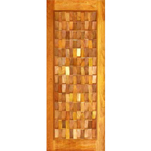 Porta Montada Pivotante de Madeira Eucalipto Ambos os Lados 2,10x1,00m 622 Galon