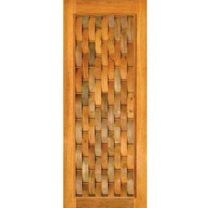 Porta Montada Pivotante de Madeira Eucalipto Ambos os Lados 2,10x1,20m 614 Galon