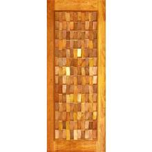 Porta Montada Pivotante de Madeira Eucalipto Ambos os Lados 2,10x1,20m 622 Galon