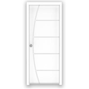 Porta Montada Pivotante de Madeira Primer Direito 2,1x1,00m Abrilar