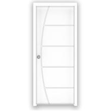 Porta Montada Pivotante de Madeira Primer Esquerdo 2,1x1,00m Abrilar