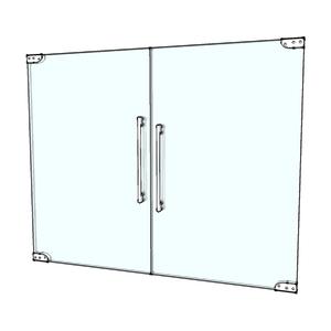 Porta Montada Pivotante Lisa de Vidro Cinza 8mm Ambos os Lados BR Baldex